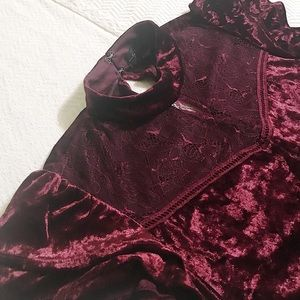 City Triangles Velvet Dress